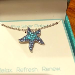 Florida Friends Aqua Starfish Necklace